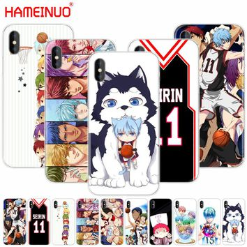 HAMEINUO Kuroko no Basket kawaii Tetsuya kawaii anime cell phone Cover case for iphone X 8 7 6 4 4s 5 5s SE 5c 6s plus