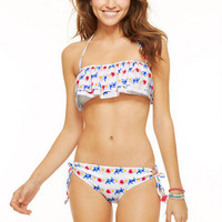 Ruffle Bandeau & Tunnel Hipster
