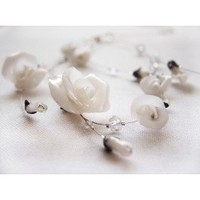 Bridal Ice Roses and Swarovski necklace - Jewelry - Bridal Jewelry  :: Nes Jewelry and Art