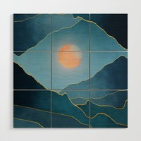 Surreal sunset 03 Wood Wall Art by marcogonzalez