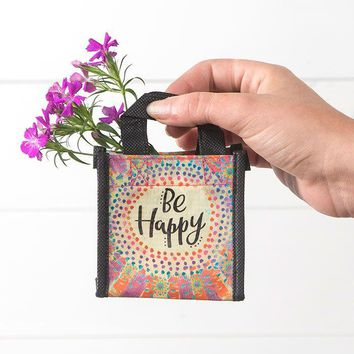 Be Happy Tiny Recycled Bag