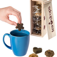 Tea Drops Variety Pack: An instant hot drink from cute shapes made of tea leaves