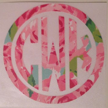 Lilly Pulitzer 4 inch Decal perfect for laptop tablet car window notebook etc