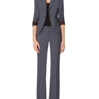 Blue Collection One Button Jacket & Lexie Classic Flare Pant | Womens' Suits | THE LIMITED