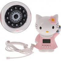 Lovely Hello Kitty Shape Telephone Set with Caller ID T-395 China Wholesale - Everbuying.com