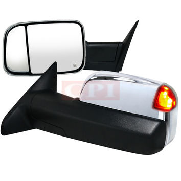 DODGE 2013 DODGE RAM HEATED TOWING MIRRORS POWER CHROME WITH MEMORY   PERFORMANCE 1 SET RH & LH  2013,2014