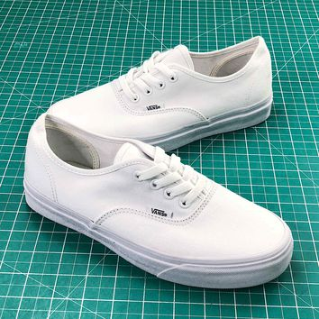 Vans Authentic Sketch Side Wall All White Sneakers - Best Online Sale 7549805815