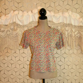 Vintage 90s Lilly Pulitzer Top Colorful Cotton Summer Top Short Sleeve Oversized Vintage Tops Vintage Clothing Small Medium Womens Clothing