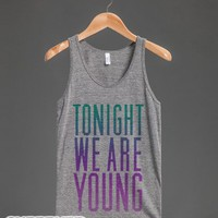 Tonight We Are Young (Washed Out Tank)-Unisex Athletic Grey Tank