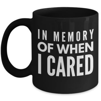 Funny - In Memory Of When I Cared (Black)