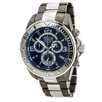 Invicta 14054 Men's Reserve Chronograph Blue Dial Two Tone Steel Bracelet Dive Watch