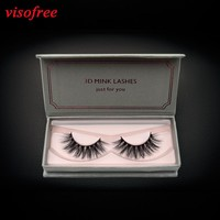 visofree 3D Mink Lashes Full Strip Lashes False Eyelashes Handmade Mink Lashes Cruelty free Reusable Upper Lashes D22