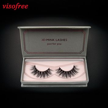 visofree eyelashes 3D Mink Lashes Full Strip Lashes False Eyelashes Handmade Mink Lashes Cruelty free Reusable Upper Lashes D22