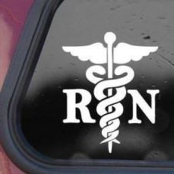 Caduceus Registered Nurse RN Car Window Decal Automobile Tablet Decal Tablet PC Wall Laptop mobile truck Notebook Computer Iphone Ipad