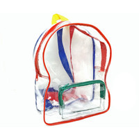 Reaerved for neko 90's Rainbow trim Clear Mini Backpack