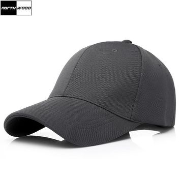 Trendy Winter Jacket [NORTHWOOD] 2018 Solid Baseball Cap Men Snapback Trucker Cap High Quality Black Cap Outdoor Fitted Hats For Adult AT_92_12