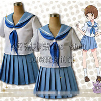 Japanese Anime Kill LA Kill Mako Short-Sleeved Uniform Cosplay Costume Any Size