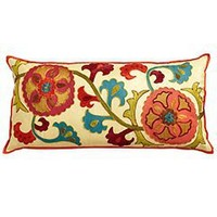 Pier 1 Imports - Product Detail - Floral Embroidery Pillow