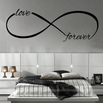Wall Decals Infinity Forever Loop Symbol Vinyl Sticker Home Decor Bedroom SM39