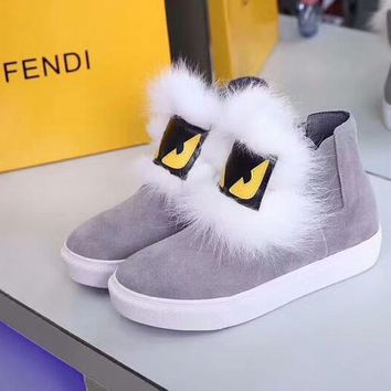 Fendi Women Fashion Casual Flats Shoes Boots Shoes 9