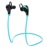 LEMFO Bluetooth Headsets Stereo Earphones Wireless Earset Earbuds Sweatproof Sports Running Headphones with Microphone For Andorid IOS Mobile Phones (Blue)