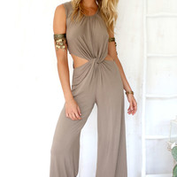 Lively Jumpsuit - Brown | SABO SKIRT