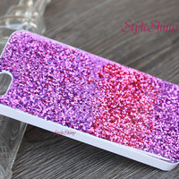 Real Glitter Pink purple red, Phone cover, iphone 6 case, iphone 6 plus,Real glitter, iPhone5s case,iPhone 5c case,Galaxy S5 case, Note3-025