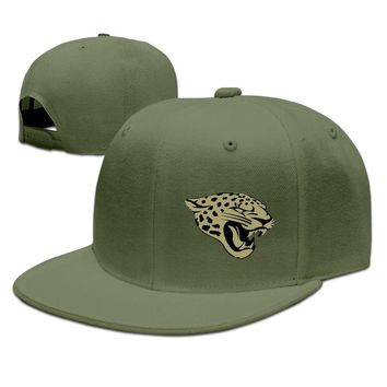 Jacksonville Jaguars Salute To Service Logo Cotton Unisex Adult Womens Flat Brim Hats Mens Hip-hop Hat