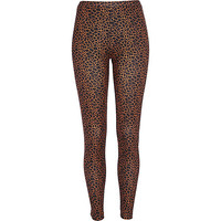 River Island Womens Black giraffe print neoprene leggings