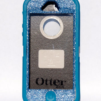 OtterBox Defender Series Case iPhone 5 Glitter Cute Sparkly Bling Defender Series Custom Case Mineral Blue / Blue saphire