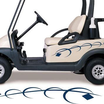 Golf Cart Go Kart Decals Side By Side Stickers Graphics Tribal Flames Stripes GG09