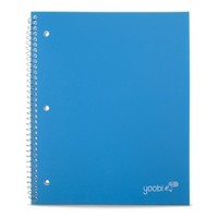Yoobi Poly Cover Wide Rule 1 Subject Notebook - Blue