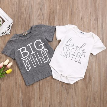 Big Brother T-Shirt Little Sister Bodysuit Onesuit Kid, Baby, Boys, Girls, Children