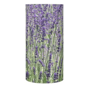 Lavender Field Floral Photo Flameless Candle