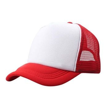 Summer Adjustable Child Solid Casual Hats Classic Trucker Kids Baseball Mesh Cap Sun Hat Beathable Women Cap