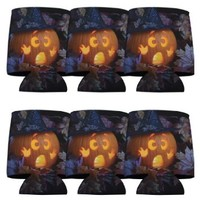 Halloween Party 'Scared Pumpkin' Koozie Set 6