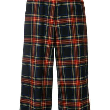 PEAPONJF P.A.R.O.S.H. Plaid Cropped Trousers - Farfetch