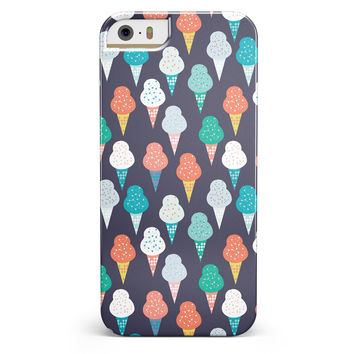 The All Over Teal and Green Ice Cream Cones iPhone 5/5s or SE INK-Fuzed Case