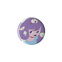 Cartoon Hangover Bee And PuppyCat Purple Pin