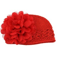 Demarkt Girl Baby's Crochet Knitted Hat Beanie Winter Cap Hat (Red)