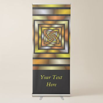 Luminous Tunnel Colorful Graphic Fractal Art Text Retractable Banner