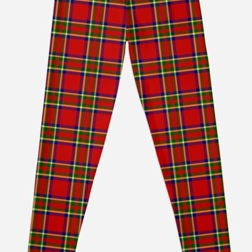 'Tartan Classic Style Red and Green Plaid' Leggings by MarkUK97