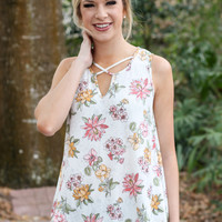 Hawaiian Sunrise Tank - Ivory