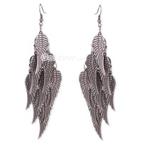 Vintage Multilayer Angel Wings Dangle Earrings at Vintage Jewelry Online Store Gofavor