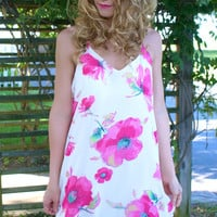 Feelin' The Floral Dress: Pink Multi