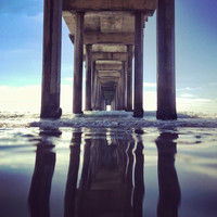 Reflection Under the Pier