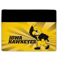 iPad 2 & 3 Iowa Hawkeyes Design #9 (Iowa Hawkeyes Herky Yellow) - Protective Leather and Suede Case