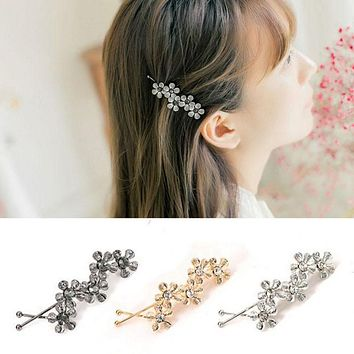 New Wave Shaped Simple Bobby Pin Five Pcs Flowers Hairpins Hair Clips Wedding Decoration Hair Accessories Headwear Barrettes
