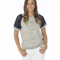 For The Love Lace Sleeve Shirt