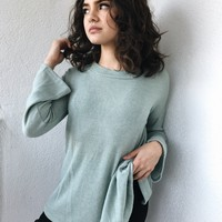 JOANNA BOW BACK SWEATER- MINT